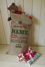 Personalized Special Delivery Large Father Christmas Xmas Santa Sack / Stocking Bag Jute Hessian